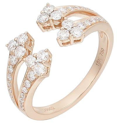 3243ef1cd565 Anillo en oro rosa 18k con diamantes talla brillante